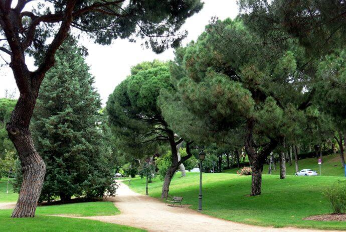 Parque del oeste i Madrid