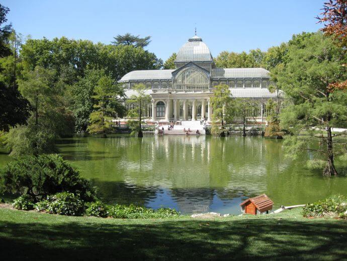 Palacio de cristal parque el retiro